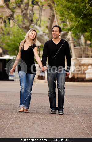 Urban Date Lifestyle stock photo, A man and woman in an urban setting in France by Tyler Olson