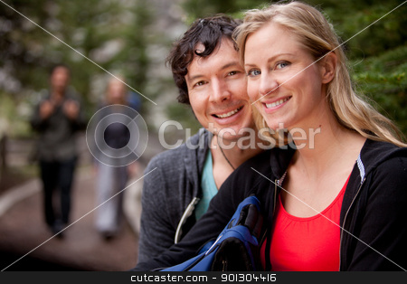 Happy Camper stock photo, A portrait of a couple of happy campers by Tyler Olson