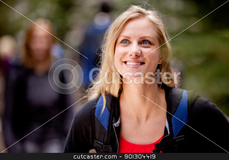 Woman Portrait Outdoors stock photo, A portrait of a young woman enjoying the outdoors by Tyler Olson