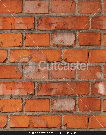 Old brick wall stock photo, Old dirty brick wall. Grungy background. by johnnychaos