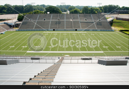 High School Football Stadium stock photo, High school football stadium showing entire field. by Danny Hooks