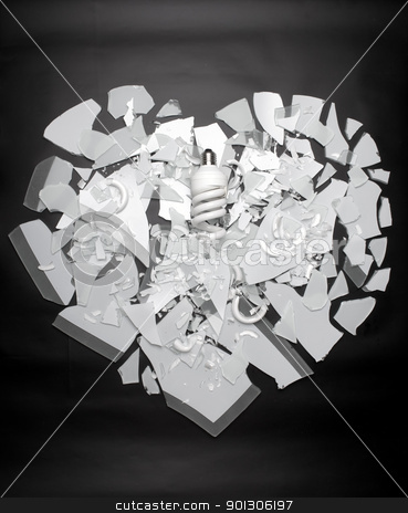 Operation - Heart stock photo, Broken glass texture. High detailed this image by Imaster