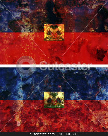 haiti flag stock photo, some very old grunge flag of haiti by michal812