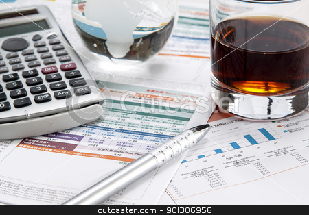 business chart showing financial success at the stock market  stock photo, business chart showing financial success at the stock market  by Keng po Leung