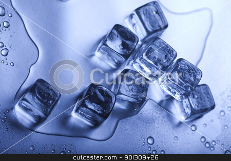 Ice background stock photo, Ice can refer any of the 14 known solid phases of water. However, in non-scientific contexts, it usually describes ice Ih, which is the most abundant of these phases in Earth's biosphere. This type of ice is a soft, fragile, crystalline solid, which can appear transparent or an opaque bluish-white color depending on the presence of impurities such as air. The manufacture and use of ice cubes or crushed ice is common for drinks. by Sebastian Duda