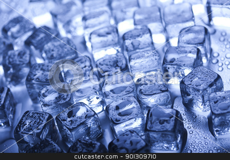 Background with ice cubes  stock photo,  by Sebastian Duda