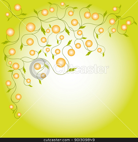 Abstract springtime flora frame stock vector clipart, Abstract springtime flora frame by meikis
