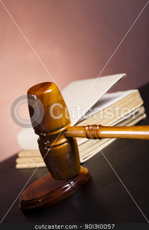 Gavel stock photo, Law and justice concept in studio. by Sebastian Duda