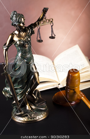 Justice statue, Law  stock photo, Law and justice concept in studio. by Sebastian Duda