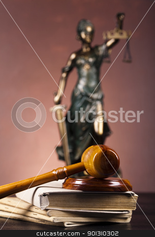 Antique statue of justice, law stock photo, Law and justice concept in studio. by Sebastian Duda