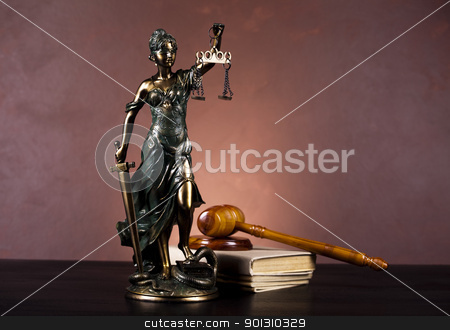 Statue of lady justice stock photo, Law and justice concept in studio. by Sebastian Duda