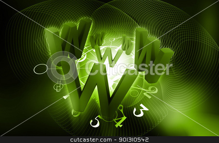 www concept stock photo, 	Digital illustration of  www  in color background by dileep