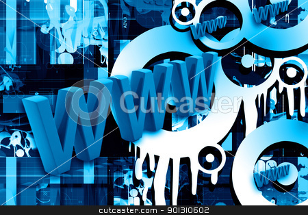 www	Internet  stock photo, www	Internet technology information  online www website	 by dileep