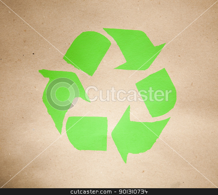 Recycling sign stock photo, Recycling sign background. by Sebastian Duda