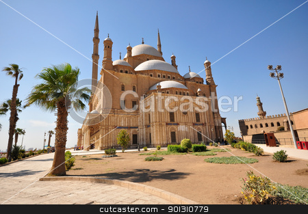 Muhammad Ali Mosque in Cairo, Egypt stock photo, The Mosque of Muhammad Ali Pasha or Alabaster Mosque is a mosque situated in the Citadel of Cairo in Egypt and commissioned by Muhammad Ali Pasha between 1830 and 1848. by ruigsantos
