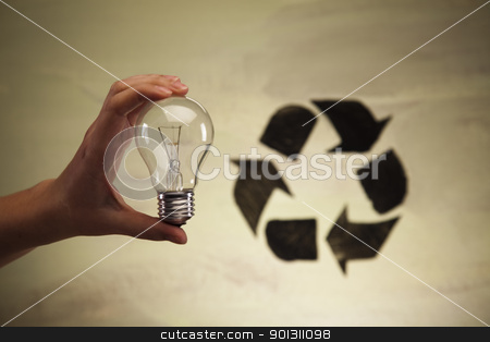 Recycle symbol, ecology stock photo, Recycling sign background. by Sebastian Duda