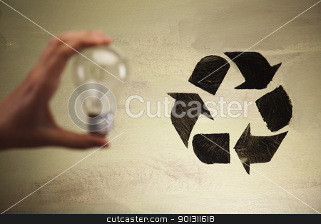 Recycling stock photo, Recycling sign background. by Sebastian Duda
