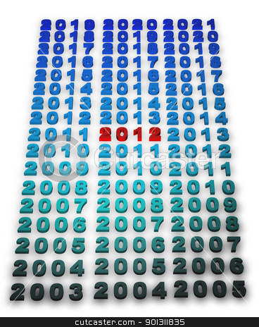 2012 new year stock photo, Illustration of 2012 new year render in 3D by marphotography