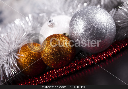 Christmas Tree Bauble  stock photo, Photography of baubles and gift connected with Christmas time and Christmas tree. by Sebastian Duda