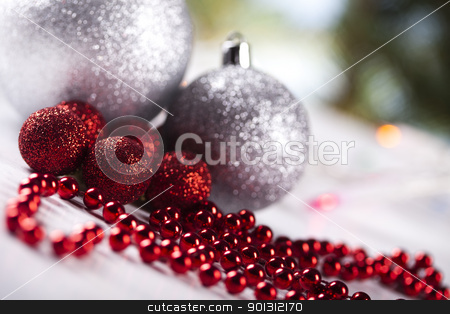 Christmas Tree Baubles    stock photo,  by Sebastian Duda