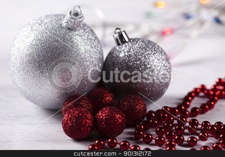 Christmas Tree Baubles    stock photo,  by Sebastian Duda