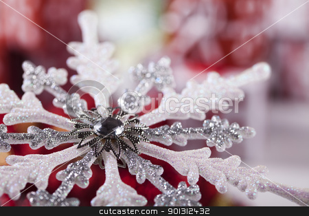 Star stock photo, Photography of baubles and gift connected with Christmas time and Christmas tree. by Sebastian Duda