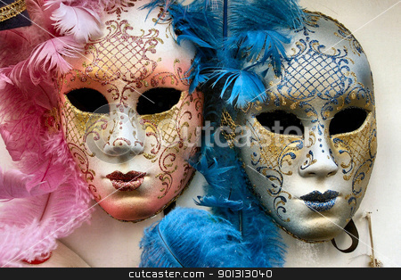 Venetian Masks stock photo, Masks from Venice by SRSImages