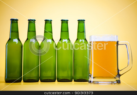 Still life with beer stock photo, Beer collection, glass in studio. by Sebastian Duda