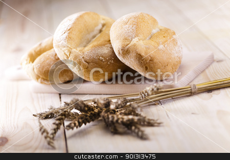 Backed goods stock photo, Still-life assortment of baked bread. by Sebastian Duda
