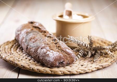Breakfast stock photo, Still-life assortment of baked bread. by Sebastian Duda