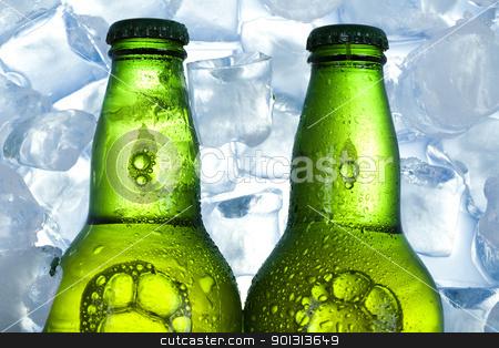 Ice beer  stock photo, Beer collection, glass in studio. by Sebastian Duda