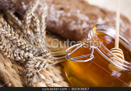 Honey stock photo, Still-life assortment of baked bread. by Sebastian Duda