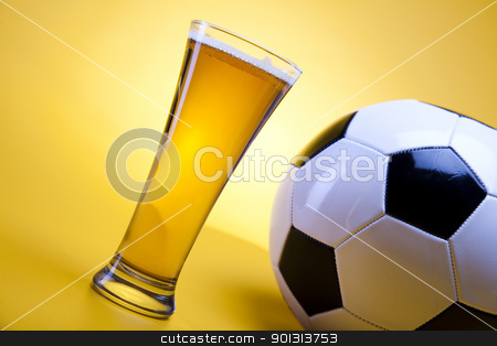 Beer collection, football stock photo, Beer collection, glass in studio. by Sebastian Duda