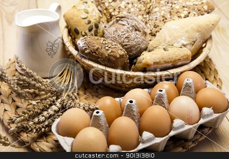 Still-life assortment of baked bread stock photo, Still-life assortment of baked bread.  by Sebastian Duda