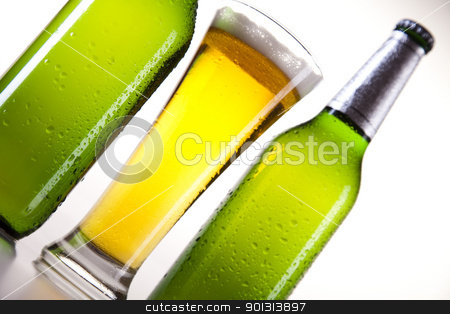 Beer stock photo, Beer collection, glass in studio. by Sebastian Duda