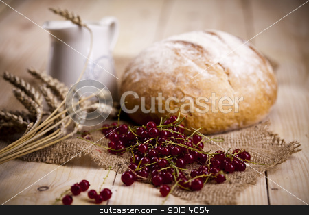 Bread composition stock photo, Still-life assortment of baked bread. by Sebastian Duda