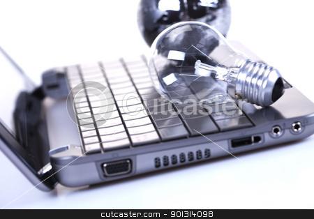 Business attribute, Laptop stock photo, Business attribute. by Sebastian Duda