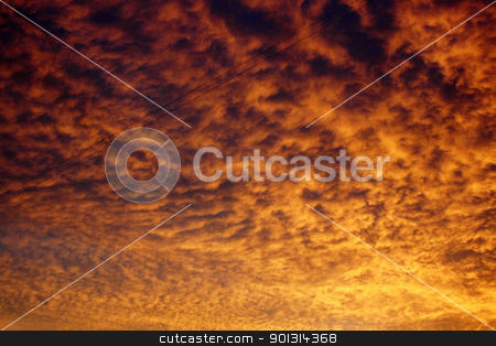 Sunset on the river Volga stock photo, Evening sunset photographed from river bank Volga by Artamonov Yury