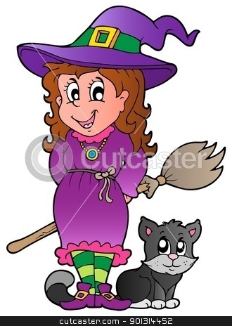 Halloween character image 1 stock vector clipart, Halloween character image 1 - vector illustration. by Klara Viskova