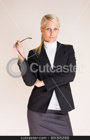 Attractive young business woman. stock photo, Portrait of ambitious attractive young blond business woman. by exvivo