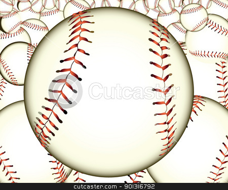 ball baseball stock vector clipart, ball baseball baseballs against the background by Yuriy Mayboroda