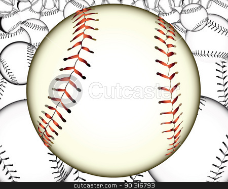 a lot of baseballs stock vector clipart, ball baseball baseballs against the background by Yuriy Mayboroda
