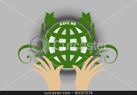 Environmental concept stock vector clipart, Beautiful symbol of environmental protection 