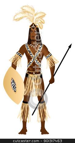 Zulu Carnival Costume stock vector