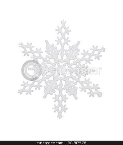 White Snowflake stock photo, White snowflake, isolated w/clipping path by Bryan Mullennix