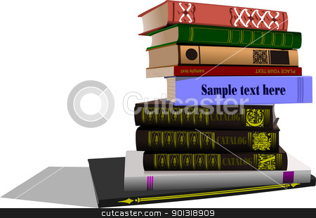 Vector illustration of column books Back to school  stock vector clipart, Vector illustration of column books Back to school  by Leonid Dorfman