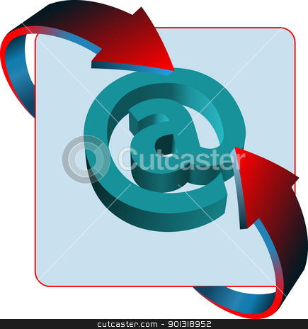 At mail sign contact vector icon stock vector clipart, At mail sign contact vector icon by Leonid Dorfman