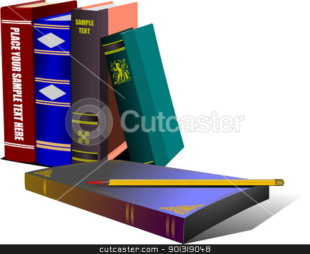 Library shelf book. Vector  stock vector clipart, Library shelf book. Vector  by Leonid Dorfman