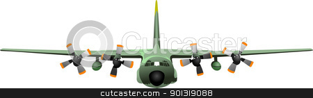 Combat aircraft. Colored vector illustration for designers stock vector clipart, Combat aircraft. Colored vector illustration for designers by Leonid Dorfman