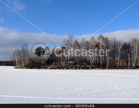 Winter landscape stock photo, Winter landscape by Stoyanov